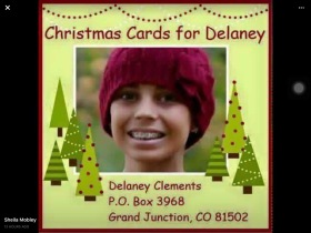 Christmas cards for Delaney